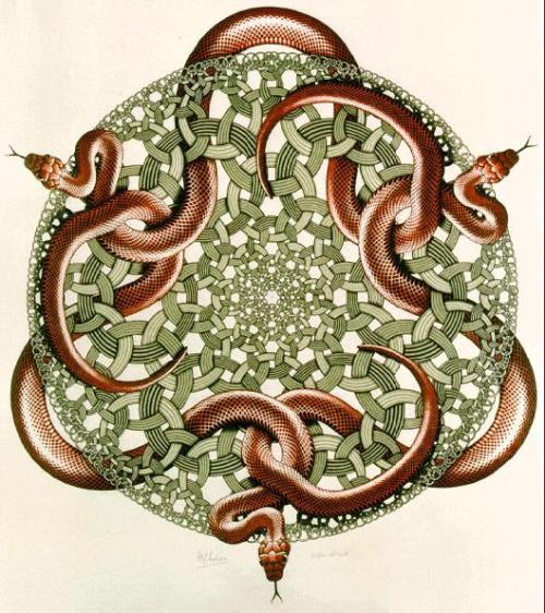 Snakes - M.C. Escher, 1969